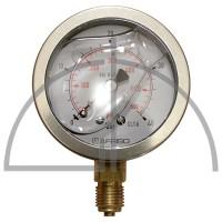 """Rohrfeder Manometer, Nenngröße 63, 0/+ 40 bar; Anschluss G1/4"""" mit GLYZERINfüllung Kl. 1,6; CrNi-Stahl"""