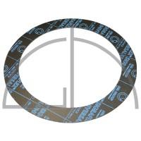 Flanschdichtung - Sigraflex Reingrafitdichtung mit Spießblecheinlage DN150, PN40, 225 x 169 x 2,0mm