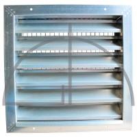 Wetterschutzgitter aus verz. Stahlblech Typ WG-Abmessung: 1200 x 1200 mm