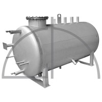 Edelstahl - Speisewassergefäß, Größe 1000 Liter, zul. Betriebsdruck 0,5 bar