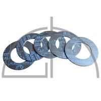 Flanschdichtungen Pack (5 Stück) - Sigraflex Reingrafitdichtungen mit Spießblecheinlage DN15, PN10-40,  50 x 22 x 2,0mm