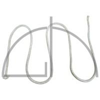 m. ISOKERAM / ISOTHERM 800-Schnur geflochten m. Chromstahldraht verstärkt   10 x  10 mm
