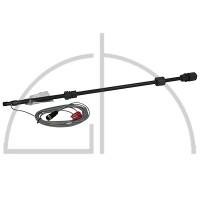 Sauglanze m. 2-Stuf.Niveauschalter PVC Schlauchanschluss 4/6, 6/8, 6/10, 6/12 mm Baulänge 750 mm mit Stecker für Trockenlauf