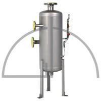 Abschlammentspannner Größe 80 Liter aus Edelstahl 1.4571 mit allen erforderlichen Anschlüssen
