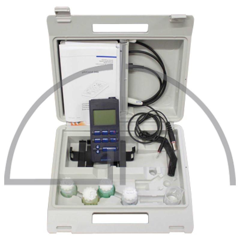 Mehrparameter-Taschenmessgerät Profiline pH/Cond 3320 für Batteriebetrieb oder optionales Netzteil-Analog und Digitalausgang-Integrierter Datalogger-Speicher