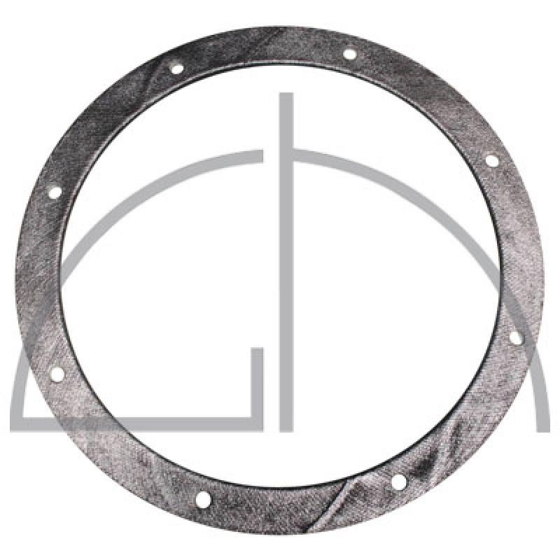 ISOKERAM-Kautschuk-Ringe mit Chromstahldraht, verst. (516082) außen grafitiert mit 8 loch, A=20mm; Lochkreis 550 mm; 495 x 600 x 10 mm dick; rund