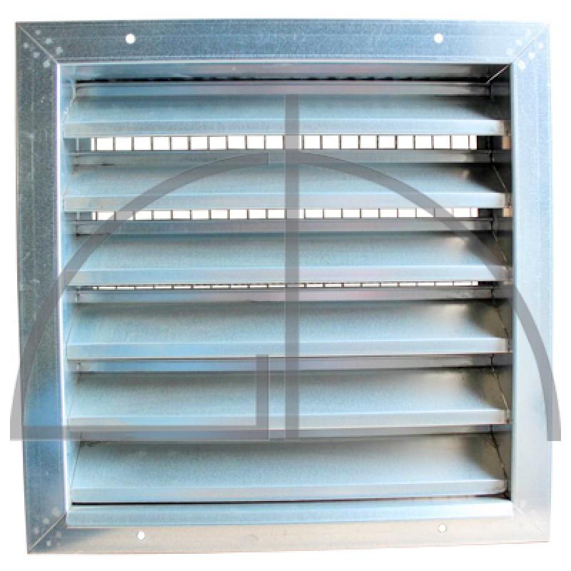 Wetterschutzgitter aus verz. Stahlblech Typ WG-Abmessung: 800 x 800 mm