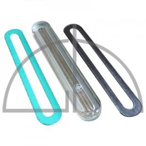 Reflex - Glas 340 x 34 x 17 mm B-9; Verp.-Einheit inkl. Dichtungen; G-SLS/K-SI B-R
