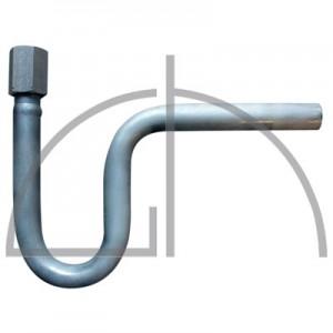 """Wassersackrohr U-Form """"gerade""""; Werkstoff 1.4571, 21,3 x 2,6; nahtlos; Eintritt Anschweißende; Austritt Spannmuffe G1/2"""""""