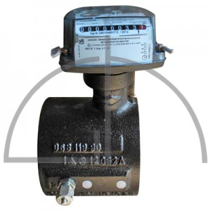 Gas-Zähler für Erdgas mit Impulsausgang, Meßbereich bis 400 m³ Anschlüsse DN 100 - PN 10