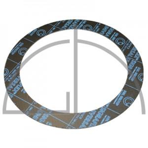 Flanschdichtung - Sigraflex Reingrafitdichtung mit Spießblecheinlage DN100, PN16, 168 x 115 x 2,0mm