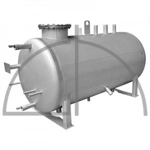 Edelstahl - Speisewassergefäß, Größe 350 Liter, zul. Betriebsdruck 0,5 bar