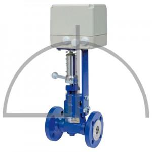 Gestra Absalz- Regulierventil mit Antrieb, Typ: BAE 46-3 DN 20 PN 40; EF 07-1, 230 V/ 50 Hz; Anschluss: Flansche DIN 2635, Form  C