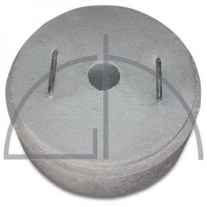 Mannloch-Stein aus Feuerbeton; RG2,2 kr/dm³ 2 Stk. Haltegriff in WStNr. 1.4845; Gewicht ca. 78 kg